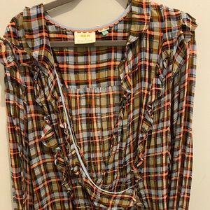 Maeve plaid blouse